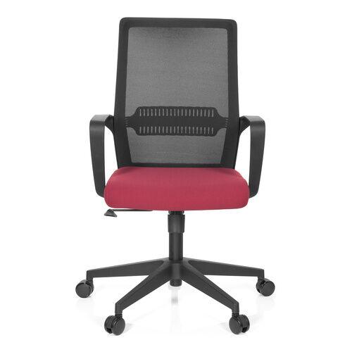 hjh OFFICE PRESTON - Siège de bureau à domicile Noir / Rouge
