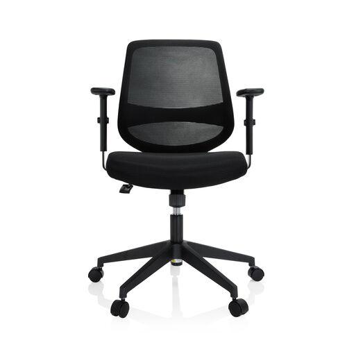 hjh OFFICE CHESTER - Siège de bureau à domicile Noir