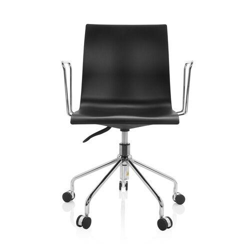 hjh OFFICE SKAGEN   Chaise pivotante pour les jeunes - Siège de bureau à domicile Noir