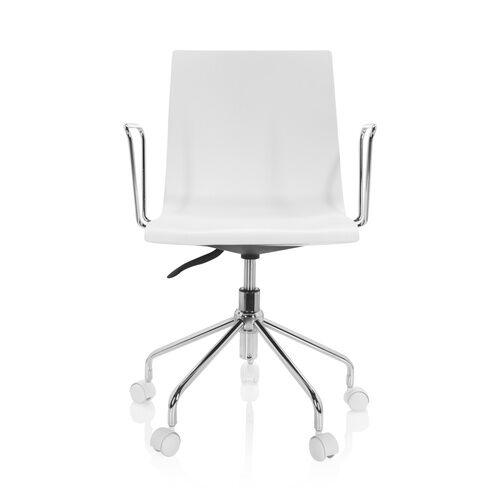 hjh OFFICE SKAGEN   Chaise pivotante pour les jeunes - Siège de bureau à domicile Blanc