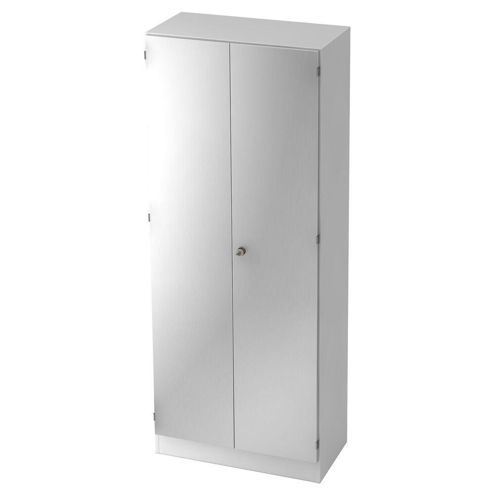 hjh OFFICE PRO SIGNA K 6100 SG - avec bouton (verrouillable) Armoire blanc/argent