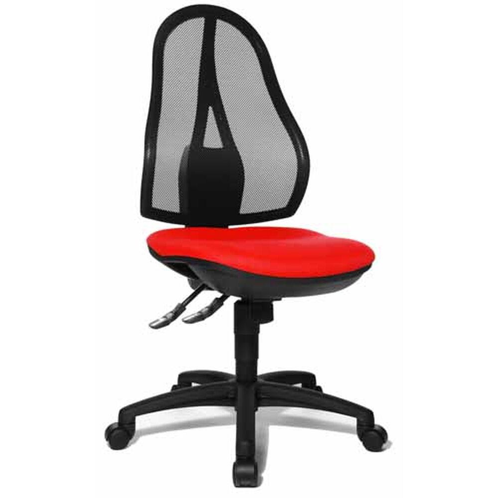 Topstar Open Point SY - Siège de bureau à domicile Rouge tissu