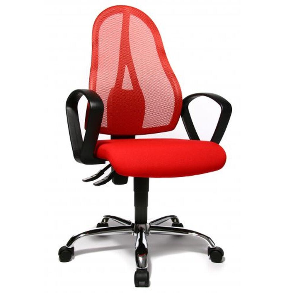 Topstar OPEN POINT P SOMO AL.B2(B) - Siège de bureau à domicile Rouge tissu maille