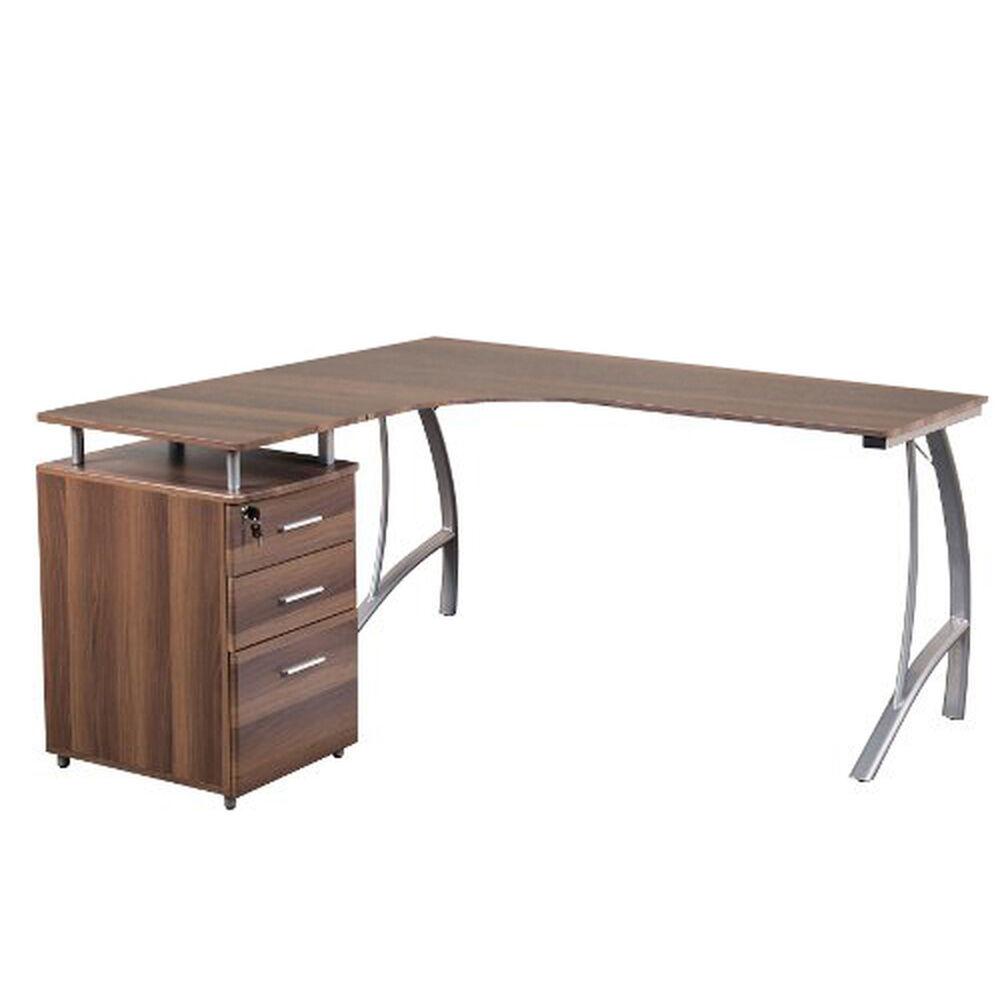 hjh OFFICE CASTOR   151x143 - Bureau multimédia Noyer
