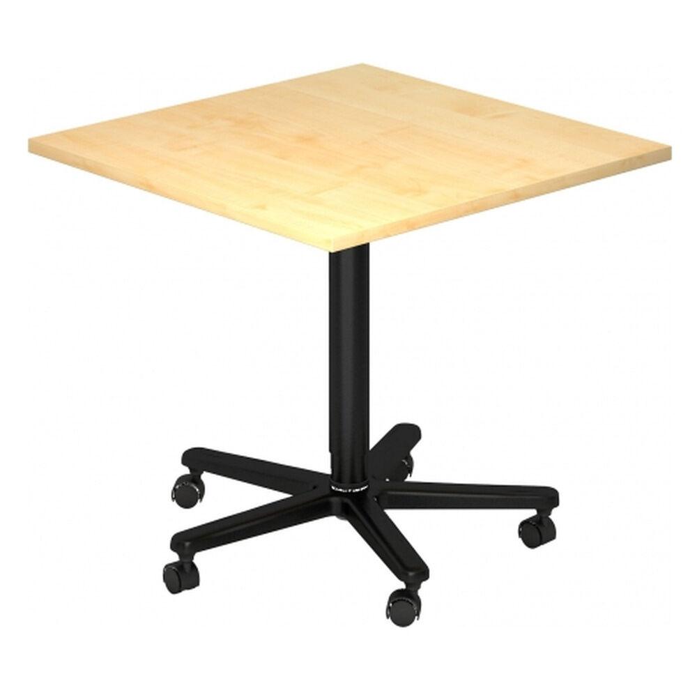 hjh OFFICE PRO BISTRO 88Q D - Système de tables conférence Érable 80 x 80 noir