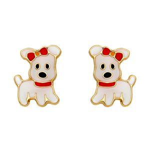 Mon Premier Bijou Boucles d'oreilles chiens - Vis - Or jaune 18ct - Publicité