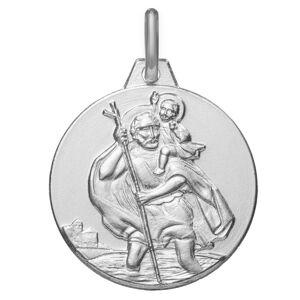 Maison de la Médaille Médaille Saint Christophe - Argent massif - Publicité
