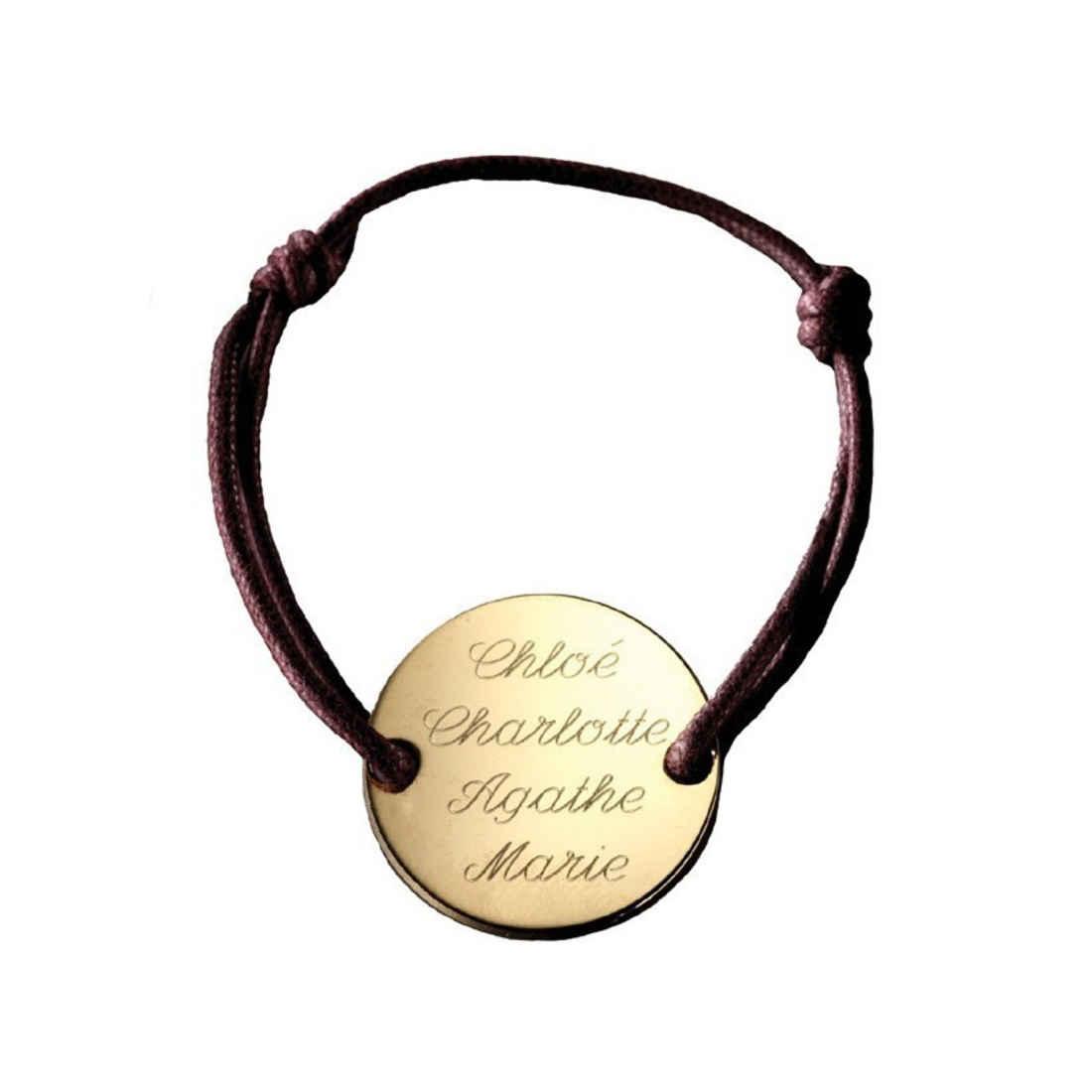 Petits Trésors Bracelet Family - plaqué or