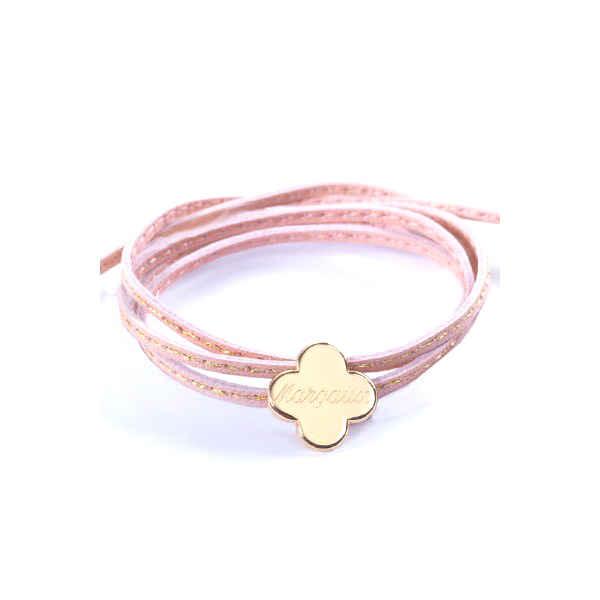 Petits Trésors Bracelet Amazone Trèfle - plaqué or
