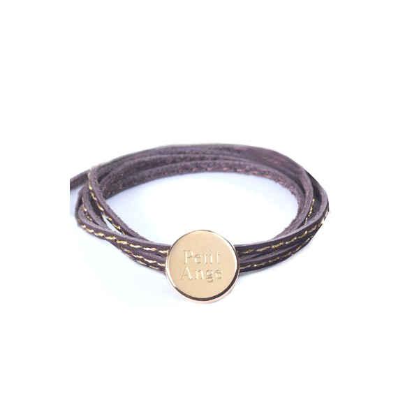 Petits Trésors Bracelet Amazone Médaille - plaqué or