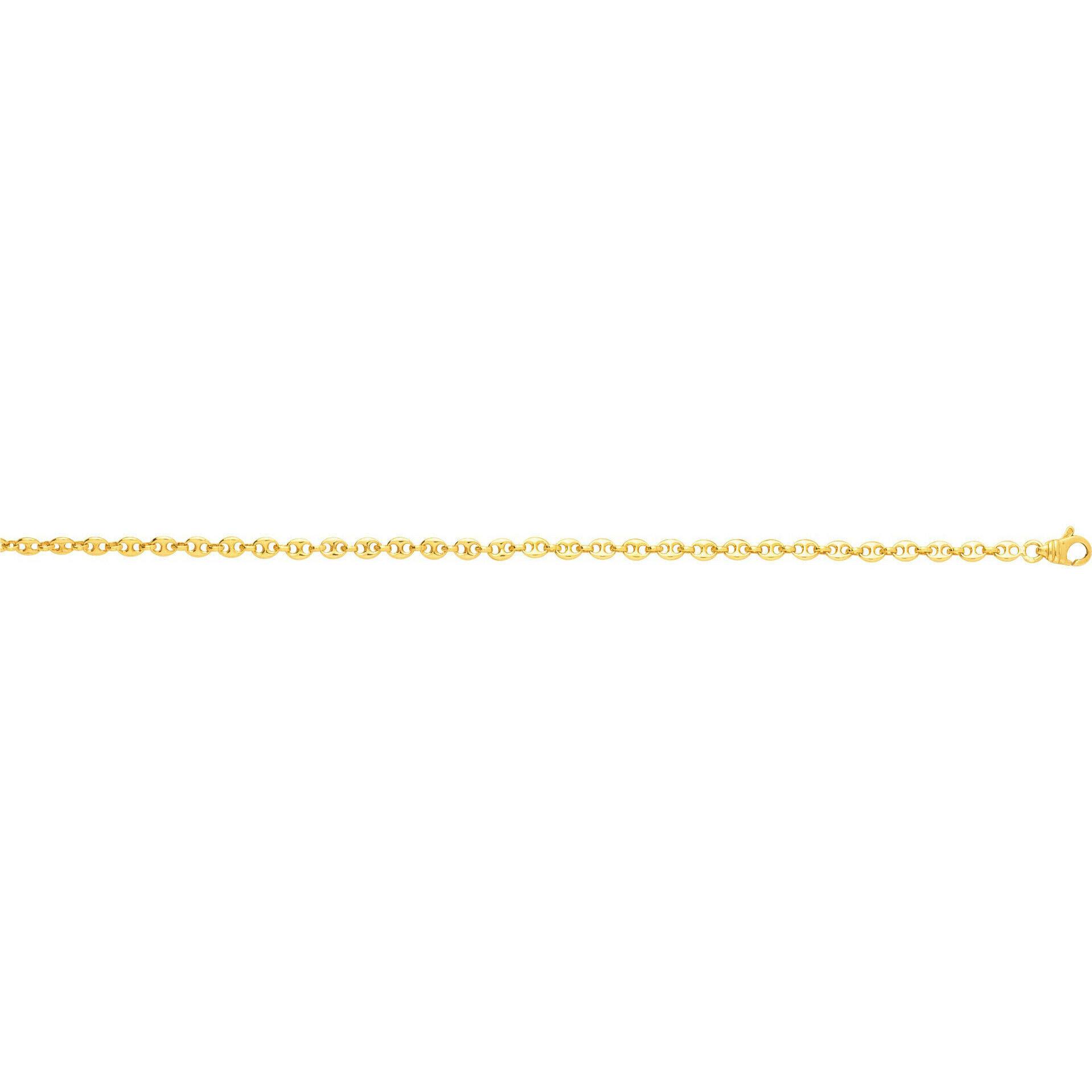 Mon Premier Bijou Bracelet maille grains de café - Or jaune 18ct