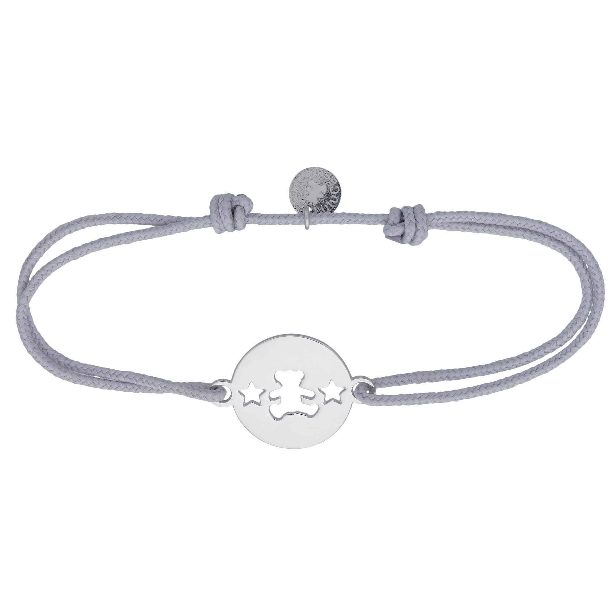 LuluCastagnette Bracelet cordon étoiles LuluCastagnette - Argent massif