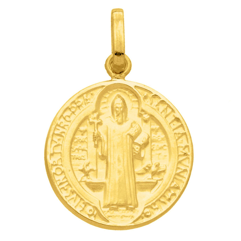 Mon Premier Bijou Médaille Saint Benoît - Or jaune 18ct
