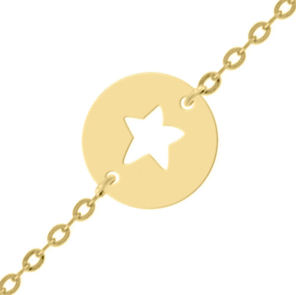 Mon Premier Bijou Gourmette bébé étoile ajourée - Or jaune 9ct