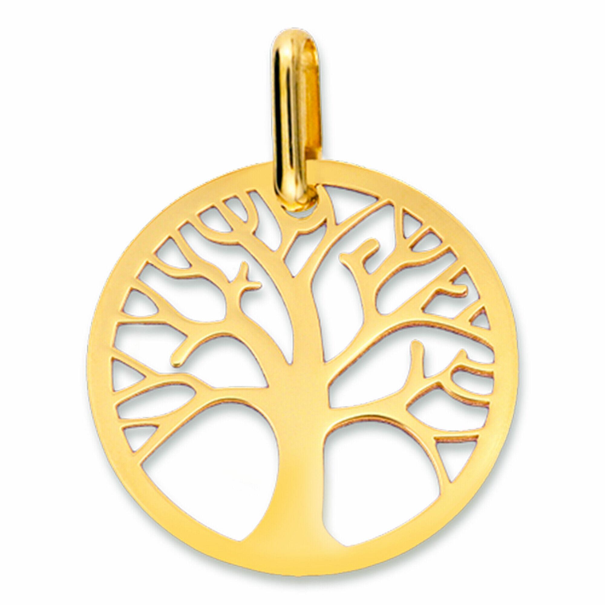 Mon Premier Bijou Médaille Arbre de vie ajourée - Or jaune 18ct