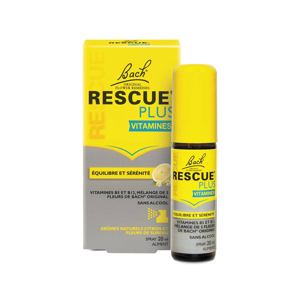 RESCUE BACH RESCUE PLUS VITAMINES EQUILIBRE ET SERENITE SPRAY 20ML