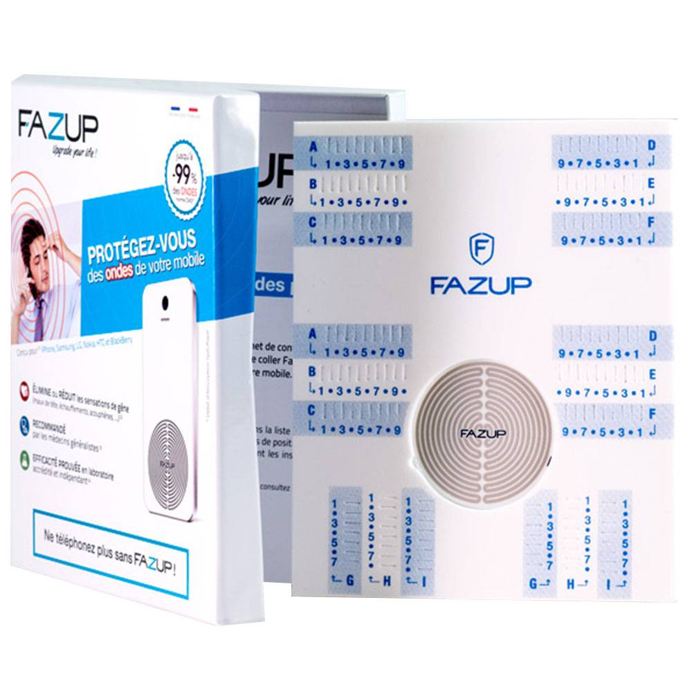 FAZUP COFFRET INDIVIDUEL 1 PATCH DE PROTECTION CONTRE LES ONDES MOBILES