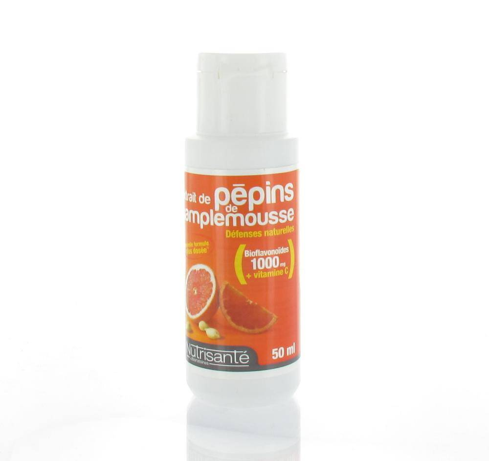 NUTRISANTE EXTRAITS DE PEPINS DE PAMPLEMOUSSE DEFENSES NATURELLES 50 ML