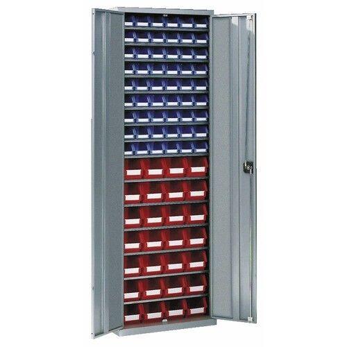 SCHAEFER Armoire d'atelier métallique - 15 étagères - 82 bacs SCHAEFER