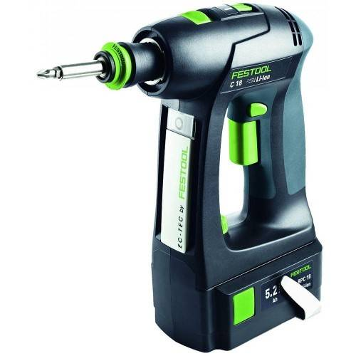 FESTOOL Perceuse visseuse sans fil 18 V C 18 Li 5,2 Plus FESTOOL