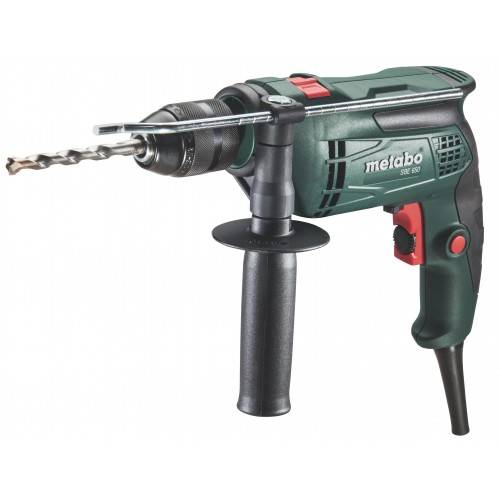METABO Perceuse visseuse filaire à percussion SBE 650 en coffret - 600671510 METABO