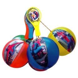 Tap-ball 2000 Lot de 12 Tap-Ball SPIDER-MAN de 22 cm de diamètre aux couleurs assorties soit seulement 1.25 € ttc le tap-ball ! les tap-ball percés ne sont ni repris ni echangés.