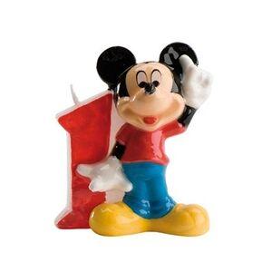 Disney Bougie Mickey chiffre 1 bougie 7 cm pour gâteaux d'anniversaire !