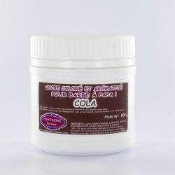 Confiserie Foraine Sucre à barbe à papa COLA sucre coloré et arômatisé prêt à l'emploi ! boîte de 500 g