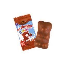 Cemoi Cémoi carton de 250 Petits Oursons Babies emballés individuellement 92224 - petit ourson de 5.4 g en guimauve enrobée de chocolat au lait