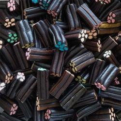 DULCEPLUS Barillets réglisse fourrés en sac de 1 kg bonbons à la réglisse gélifiés lisses à 3.50 € le kilo !