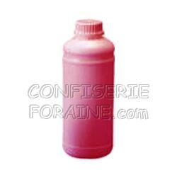 Confiserie Foraine Concentré goût FRAMBOISE pour machines à granité Bidon de 1 Litre (+ sucre et eau selon mode d'emploi) = 43 litres de granité !