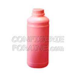 Confiserie Foraine Concentré goût FRAISE pour machines à granité Bidon de 1 Litre (+ sucre et eau selon mode d'emploi) = 43 litres de granité !