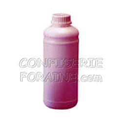 Confiserie Foraine Concentré goût CERISE pour machines à granité Bidon de 1 Litre (+ sucre et eau selon mode d'emploi) = 43 litres de granité !
