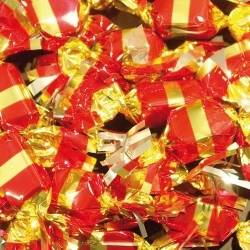 Cémoi JACQUOT Carton de 4.7 kg de Papillotes TOUT PRALINÉ PROCHAIN ARRIVAGE LE 09/12/2020 - 78495 environ 470 papillotes de bonbons de chocolat lait ou noir fourrage au praliné