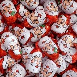 JACQUOT Carton de 5 kg soit 400 têtes de père noël en chocolat au lait fourré praliné PROCHAIN ARRIVAGE LE 09/12/2020 - 72081 soit 0.13 € le petit père-noël de 12.2 g