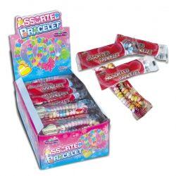 Fantasy Toys Présentoir de 48 bracelets en bonbon dextrose un bracelet à manger à 0.13 € l'unité !