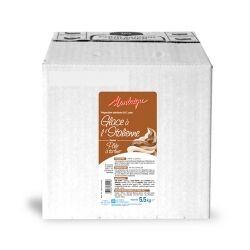 Laiterie de Montaigu Mix à glace Montaigu Pâte à tartiner CHOCOLAT-NOISETTE 5 litres pour glace soft à l'italienne préparation liquide prête à l?emploi pour environ 65 à 70 glaces type CRÈME GLACÉE