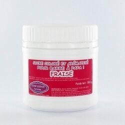 Confiserie Foraine Sucre à barbe à papa FRAISE sucre coloré et arômatisé prêt à l'emploi ! boîte de 500 g