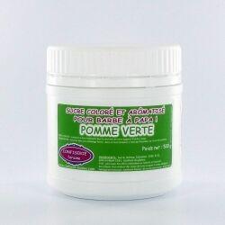 Confiserie Foraine Sucre à barbe à papa POMME VERTE sucre coloré et arômatisé prêt à l'emploi ! boîte de 500 g