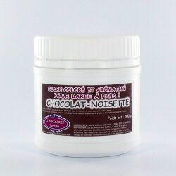 Confiserie Foraine Sucre à barbe à papa CHOCO-NOISETTE sucre coloré et arômatisé prêt à l'emploi ! boîte de 500 g