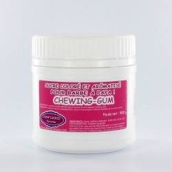 Confiserie Foraine Sucre à barbe à papa CHEWING-GUM sucre coloré et arômatisé prêt à l'emploi ! boîte de 500 g