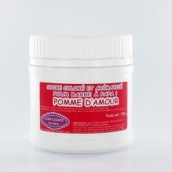 Confiserie Foraine Sucre à barbe à papa POMME D'AMOUR sucre coloré et arômatisé prêt à l'emploi ! boîte de 500 g