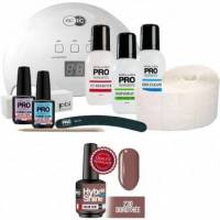 Mollon Pro Pack Mollon + Lampe 48 watts Mini Vernis Semi-Permanent Hybrid Shine Mollon Pro 8ml Dorothée - 230 <br /><b>104.34 EUR</b> Beauty coiffure