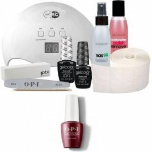 OPI Pack Semi-permanent OPI + Lampe 48 watts OPI Vernis Gel Color We the Female 15 ml - Publicité
