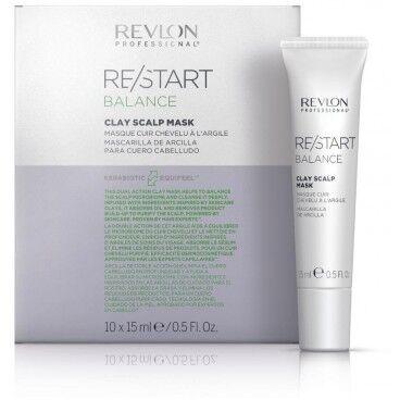 REVLON Masque cuir chevelu à l'argile Revlon Balance Restart 10x15 ML