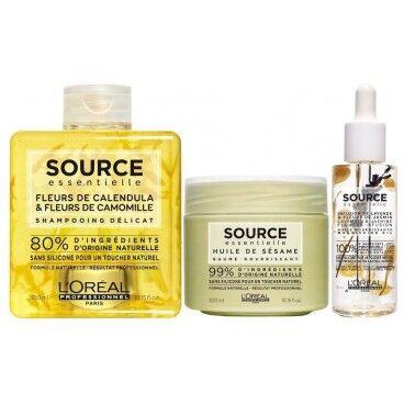 L'Oréal Professionnel Pack shampooing Calendula et Fleur de Camomille + baume + huile Source Essentielle