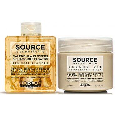 L'Oréal Professionnel Pack shampooing Calendula et Camomille + baume au sésame Source Essentielle