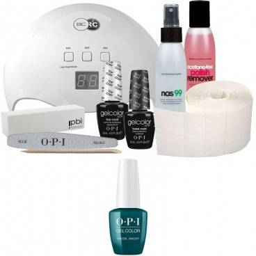 OPI Pack Semi-permanent OPI + Lampe 48 watts OPI Vernis Gel Color AmazON...AmazOff 15 ml