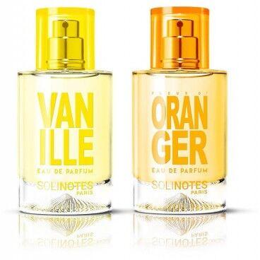 Solinotes Mix Poétique : eau de parfum Fleur d'Oranger 50ml et eau de parfum Vanille 50ml