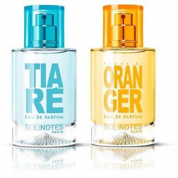 Solinotes Mix Prodigieux : eau de parfum Tiaré 50ml et eau de parfum Fleur d'Oranger 50ml